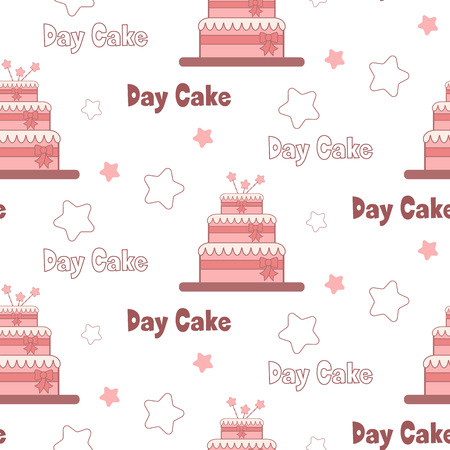 polkadots: A festive poster to the International Day of cake.Sweet seamless vector pattern. Seamless pattern can be used for Wallpaper, pattern fills, background of web page, surface textures.