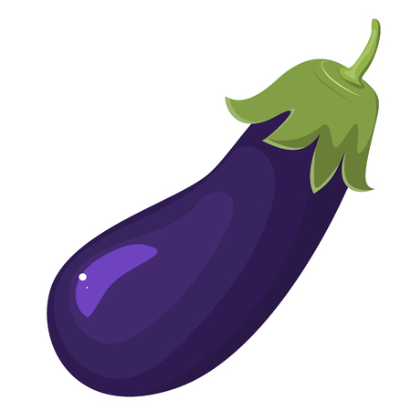 Eggplant illustration isolated on white background. Stok Fotoğraf - 85715029