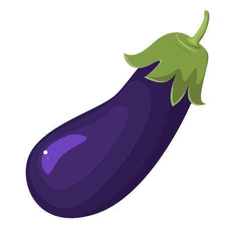 Eggplant illustration isolated on white background.