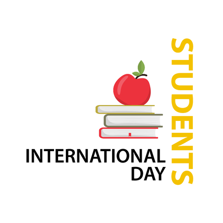 International Students Day Vector Illustration. Isolated white background. Flat design.