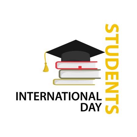 International Students Day Vector Illustration. Isolated white background.