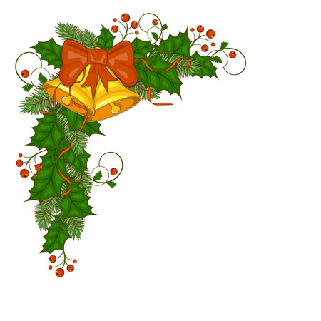 Decorative border from a traditional Christmas objects. Stock Photo