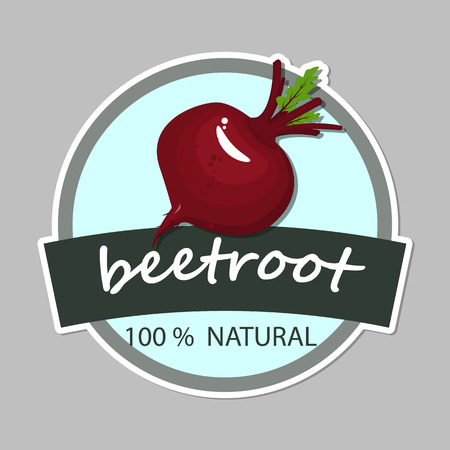 Label with beetroot design vector illustration.