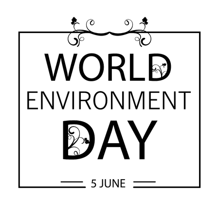 World Environment Day greeting card design illustration.