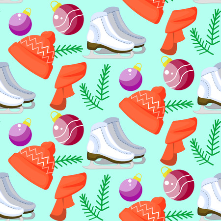 Cute colorful cartoon istration. Perfect for wrapping paper, bedding, textiles, fabric, Wallpaper, fashion, baby clothes bedding gift packaging. Vector new year seamless pattern.