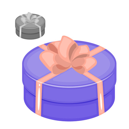 Gift box icon. Cartoon illustration gift box vector icon for your lovely works.