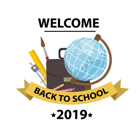 Back to school background. Education concept, brochure template, your text, vector illustration