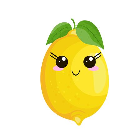 Funny cartoon cute lemon.