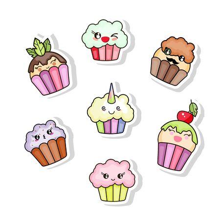 Cupcake character