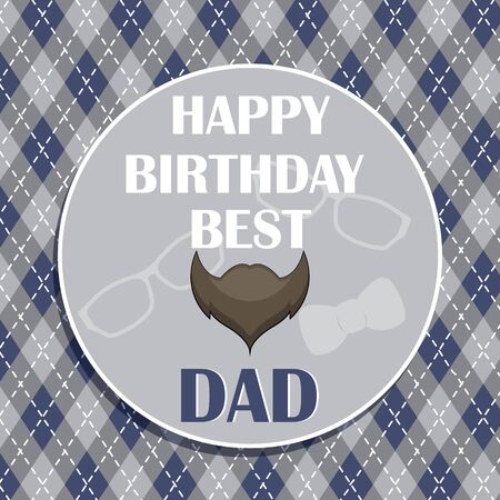 Retro style typographic design card with a beard for father s day or birthday.  イラスト・ベクター素材