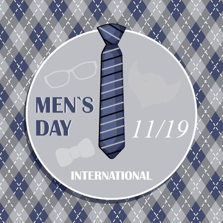 Vector Illustration of International Men s Day Background. Stock vector.