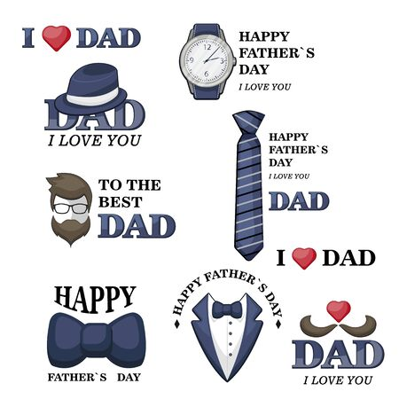 Happy Father s Day greeting card design 写真素材 - 133350293