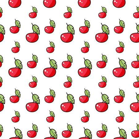 Seamless Set of  cherries.