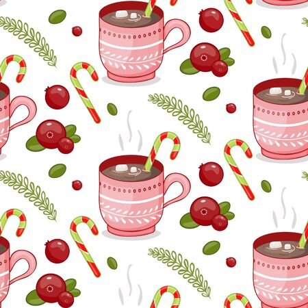 Merry Christmas Cup on a white  イラスト・ベクター素材
