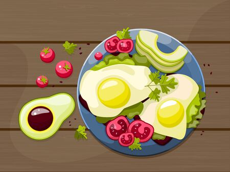 Products that help healthcare. Diet for life. Stock vector.