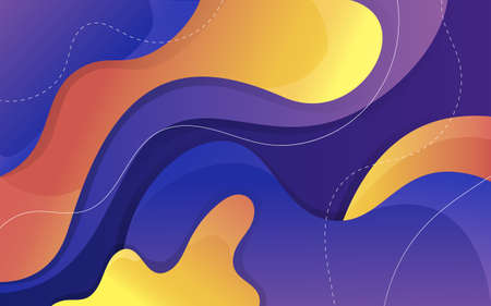 Geometric abstract purple and bright orange gradient shapes. Vector background for your design. 矢量图像