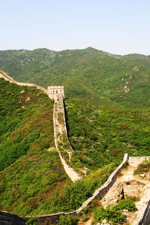 toppled: Great wall chinese china wonder
