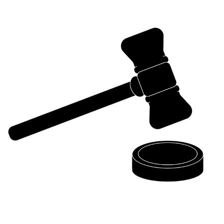 judicial: Icon gavel. Judicial system. Law