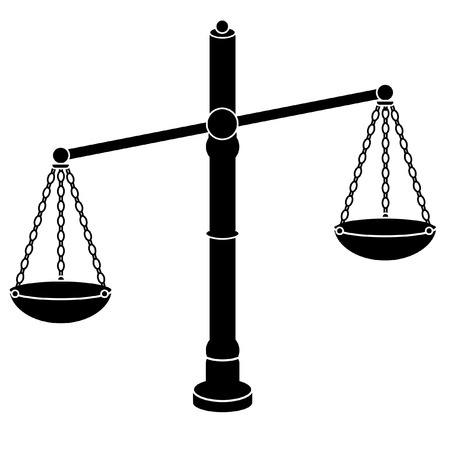 Scales of Justice. Law. illustration