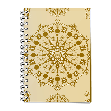 Realistic spiral Notepad. Vector isolated image. Cover for travelers. A stylish solution for your design.