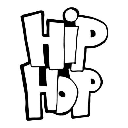 La frase hip-hop. Graffiti escrito a mano. Caligrafía moderna del cepillo Impresiones, carteles, videos, aplicaciones móviles, sitios web y proyectos impresos.
