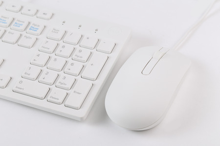 peripherals: The mouse and keyboard Stock Photo