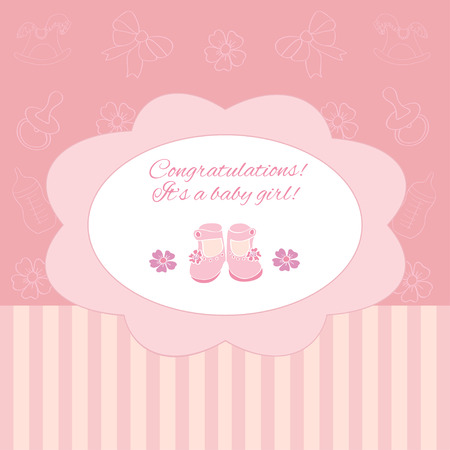 it s a girl: It s a girl, greeting card