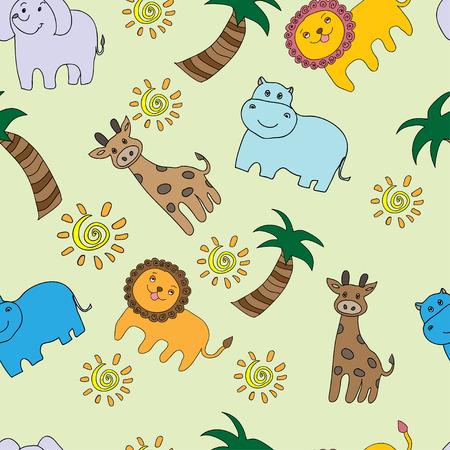 Seamless pattern avec des animaux marrants africains Banque d'images - 28459965