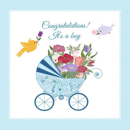 its a boy: Its a boy greeting card.Baby shower card