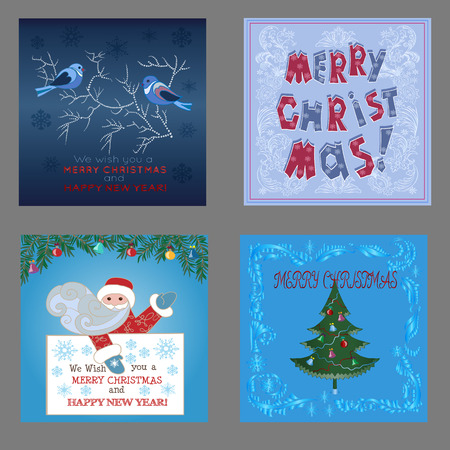 worldwide wish: Set of Greeting cards for Christmas.