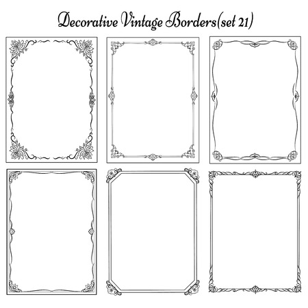 Set of vintage borders and frames