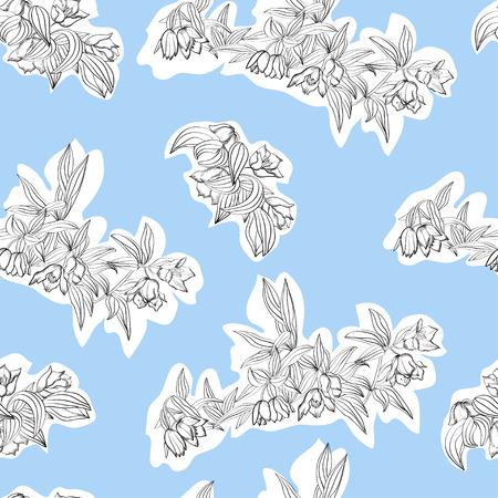 rn: Seamless floral pattern