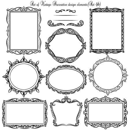 bordi decorativi: Insieme dei bordi decorativi d'epoca e cornici.