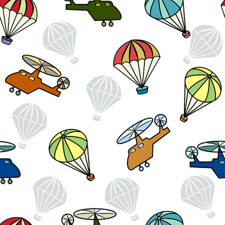 for boys: Seamless pattern with helicopters for boys. Illustration