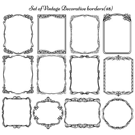 Set of decorative Vintage frames