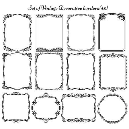 bordes decorativos: Conjunto de marcos vintage decorativos