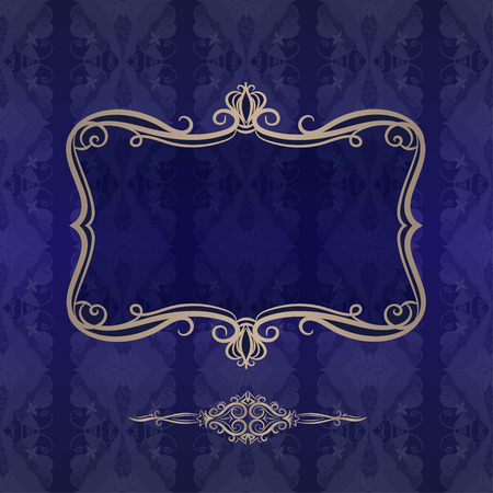 Dekorative Hintergrund mit Vintage-Rahmen. Standard-Bild - 40923610
