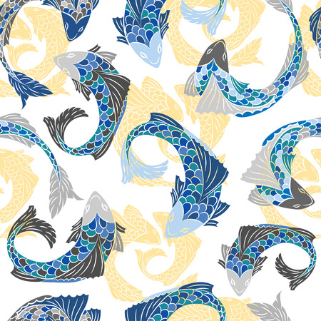 doodle: Seamless pattern with fish.