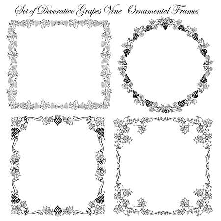 bordi decorativi: Set of  Vintage Decorative borders and frames Vettoriali