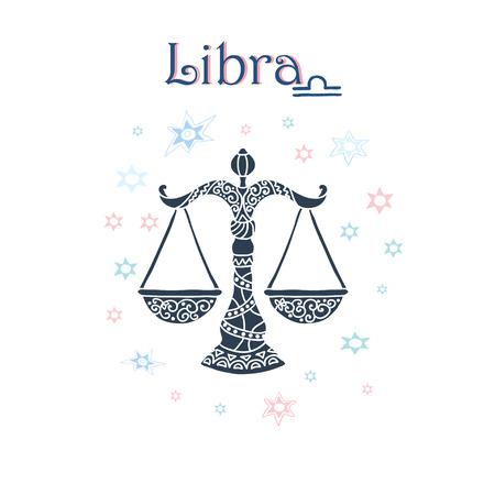 libra zodiac: Libra Zodiac sign Illustration