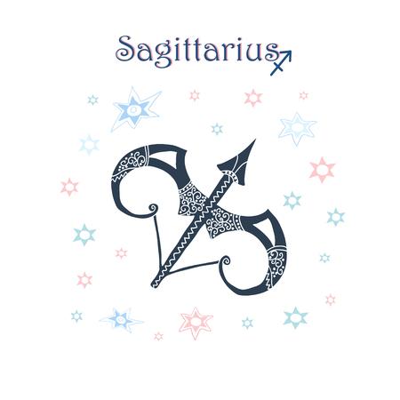cor: Sagittarius Zodiac sign Illustration