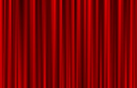 Velvet red curtain abstract background. Vector illustration.