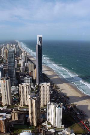 surfers: Gold Coast, Surfers paradise beach, Australia Stock Photo