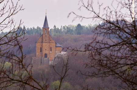 whitsun: A little pilgrimage church in the woods near Schesslitz, Germany, called Guegel.