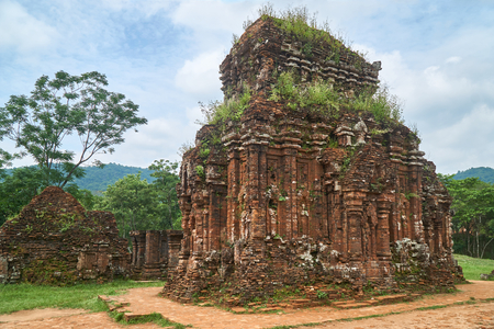 Old reiligous buildings from the Champa empire - cham culture. In my son, near Hoi an, Vietnam.