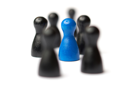 Symbol For A Conflict Between Two Groups Of People Stock Photo