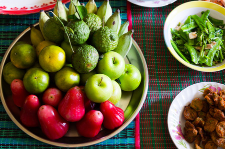 ancestor: Group of fruit in ancestor respect ceremony