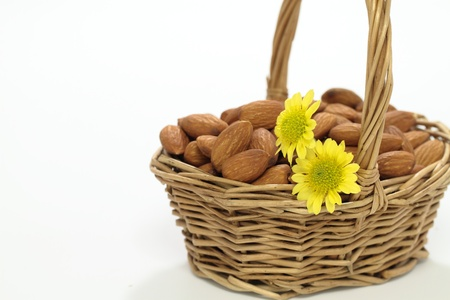 Almond of the basket Stock Photo