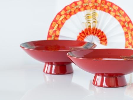 Sake of red lacquerware