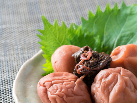 Traditional preservation food _ pickled plum in Japan